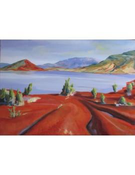 Le Lac du Salagou (70 x 50 cm)