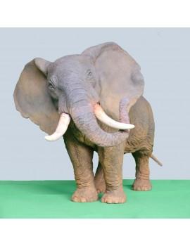 Terre cuite patinée ----- 64 x 37 x 38 cm. 'Éléphant.'