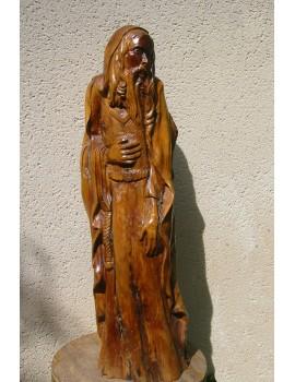 Sculpture sur bois ----25 x 87 x 30 cm. 'Saint Jean.'