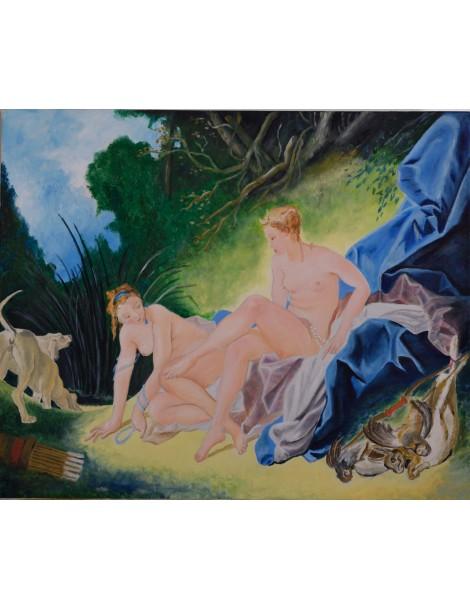 Copie de Diane de Boucher (55 x 46 cm)