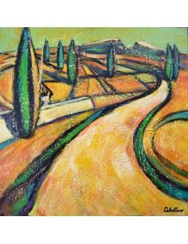 Le chemin (80 x 80 cm)