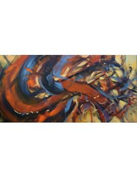 Fulgurance abstraite (120 x 60 cm)
