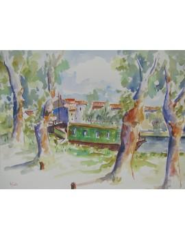 Le Canal du Midi au Somail (45 x 35 cm)