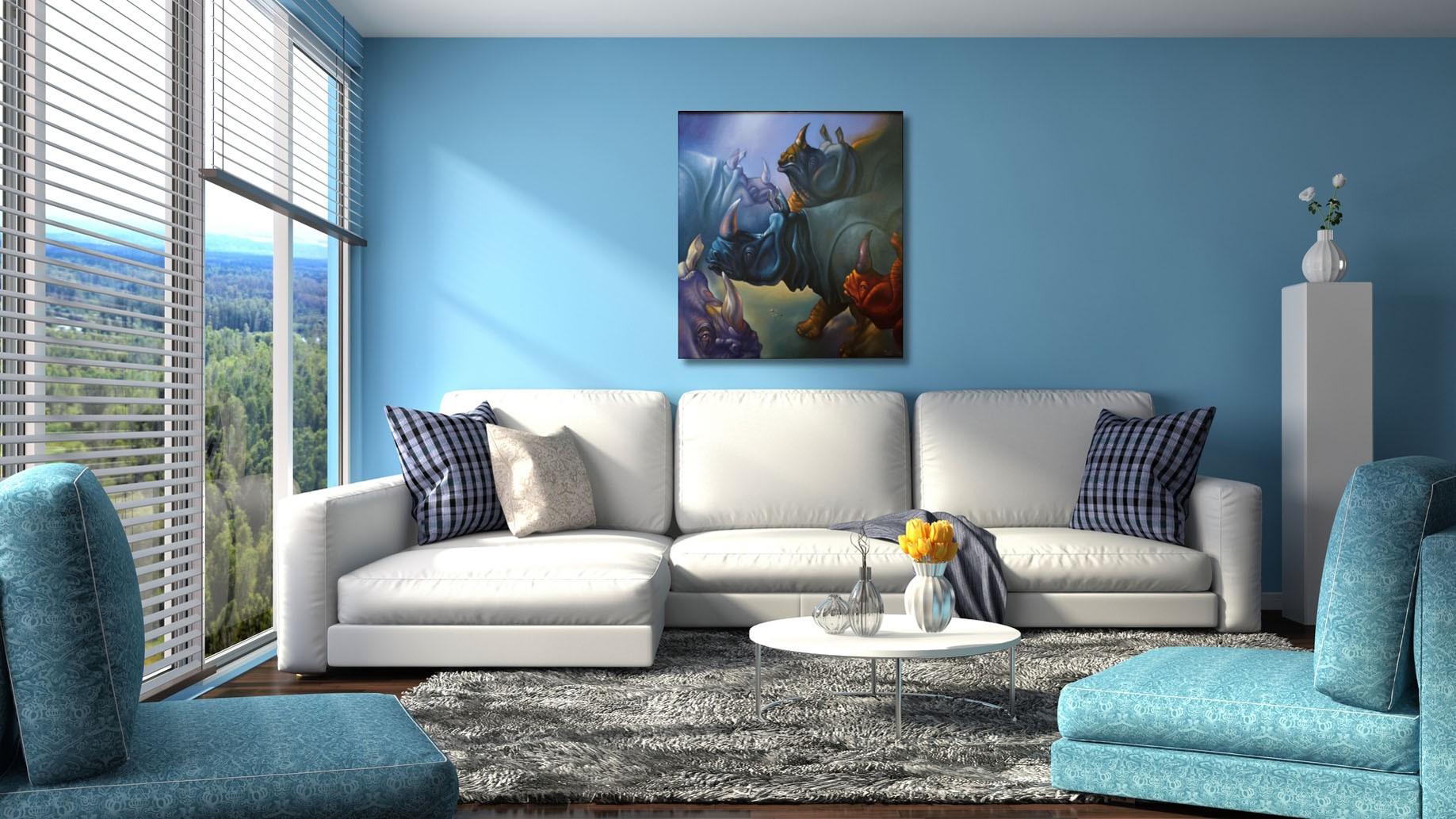 """Peinture à l'huile --------- 100 x 100 cm. """"Le Bal des Célibataires"""" - Artwebgalerie"""