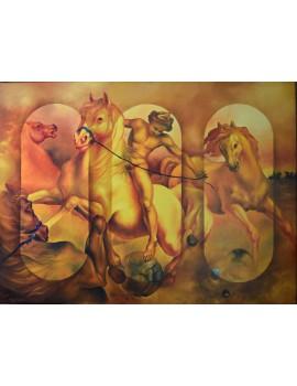 """Peinture à l'huile ------ 130 x 97 cm. """"Le Passage des Âmes"""""""