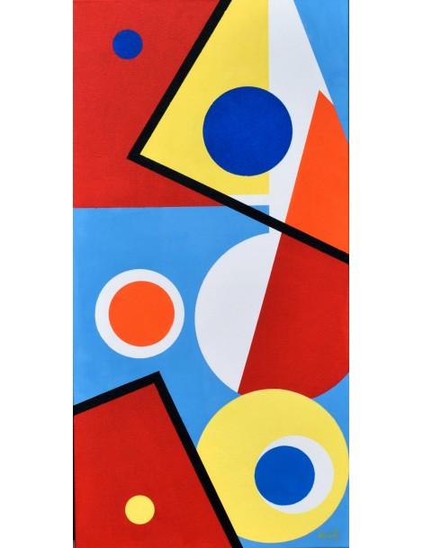 Peinture acrylique ---- 50 x 100 cm. 'Fractures.'